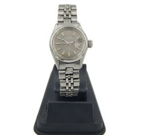 TUDOR PRINCE OYSTERDATE 7600/0 STAINLESS STEEL GRAY DIAL DATE WINDOW 24 MM