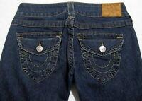 TRUE RELIGION JOEY Women's Size 6 26x32 Slim Skinny Denim Jeans Flare _657