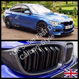 BMW F30 F31 F34 F35 Genuine Carbon Fiber Replacement Grill Twin Slat M3 Style