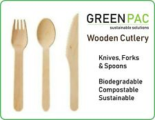 Disposable Wooden Cutlery Knife Fork Spoon
