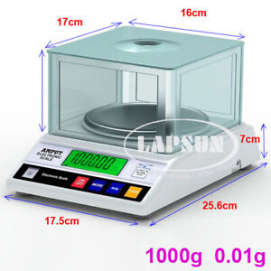 1000g x 0.01g 1KG High Accurate Jewelry Gram Gold Gem Coin Balance Weight Scale