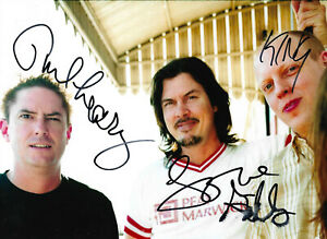 Butthole Surfers Band signed 8x11 inch photo autographs