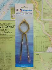 "Portland Solid Brass Single Handed Chart Divider 8"" - Marine Chart Navigation"