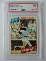 1980 Topps New York Yankees #600 REGGIE JACKSON PSA 9 Mint Baseball Card