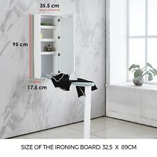 Wall Mounted Ironing Board Built-In Cabinet Fold Out Wood Ironing Board Storage