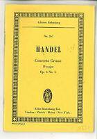 Händel : Concerto Grosso D-Dur Op. 6, No. 5  ~ Studienpartitur