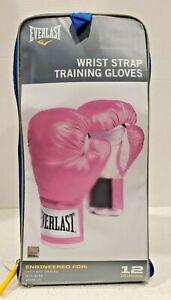 NEW Pro Style Pink Boxing Training Gloves EVERLAST 12oz NIB