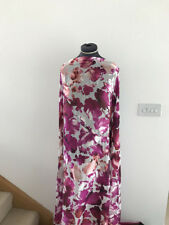 Luxurious Shimmering Iridescent Floral/Flowers Print Silky Crepe Dress Fabric