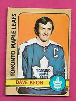 1972-73 OPC # 108 LEAFS DAVE KEON EX+ CARD (INV# D4054)
