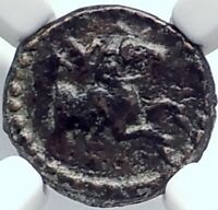 KYME in AEOLIS Authentic Ancient 1stCenBC Greek Coin HORSE QUIVER NGC i81853