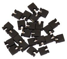 25x 2.54mm Micro Jumper Black Shorting Link Shunt With Open Test Point
