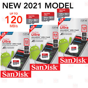 SanDisc Ultra Micro SD UHS-I 32GB 64GB 128GB 120MB/s Memory Card/Adapter/Reader
