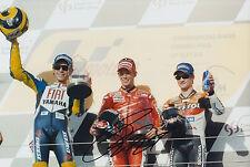 Casey Stoner mano firmado 12x8 Foto Ducati MotoGP autógrafo.