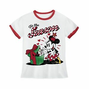 Disney Authentic Minnie & Figaro Cat Holiday Girls T Shirt Tee Size 2/3 4 5/6