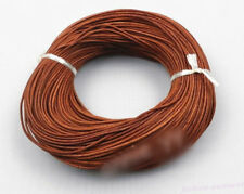 1x/5M Light Coffee Real Leather Round Rope String Cord For Jewelry Finding DIY