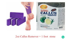 2.5 oz callus Remover liquid + 1 Stone Foot Care. Best for shower time