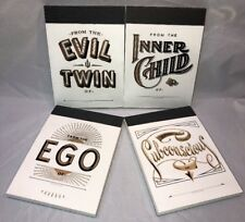 Alter Ego Notepads Ego Subconscious Inner Child Evil Twin Notebooks Set Of 4