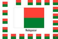 Assortiment lot de 25 autocollants Vinyle stickers drapeau Madagascar-Madagascar