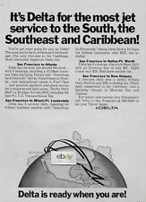 DELTA AIRLINES 1970 MOST JETS FROM SAN FRANCISCO TO SOUTH 3 N/STOPS ATLANTA AD