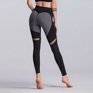 Women's 4 Way Stretch Sport Leggings Tummy Control Slimming Yoga Workout Pants