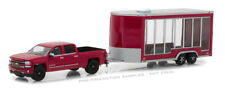 1/64 GREENLIGHT HITCH AND TOW 2016 Chevrolet Silverado and Glass Display Trailer