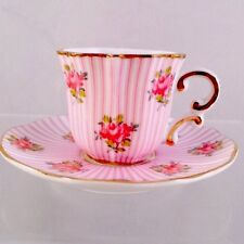 Mini Collectible Child's Doll Size Mini Flowers Teacup Saucer Nwt Box B6
