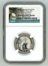 2018 S SILVER QUARTER 25C PICTURED ROCKS REVERSE PROOF NGC PF 69 FR  4859513-080