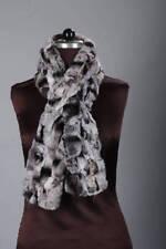 Chinchilla Color Rex Rabbit Fur Scarf collar luxury best gift present handmade