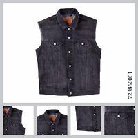 Levis Men's Trucker Vest Standard Fit Cotton Button Up Denim Dark Gray Stonewash