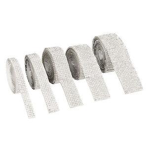 5 Roll Self Adhesive Crystal Rhinestone Ribbon Diamond Sticker Bling Ribbon Wrap