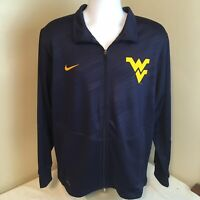 Nike Dri Fit Mens Full Zip Track Jacket Large WVU West Virginia University FS!