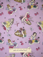 Disney Princess Rapunzel Belle Cotton Fabric Springs Dots on Orchid CP52273 YARD