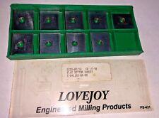 New listing Lovejoy Carbide Inserts Quantity 9 Lcea 82.52 Gr Lt-90 Flat Bottom
