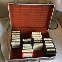 Lot of 24 8-Track Tapes Country w/ 40 Slot Hard Case George Jones Glen Campbell