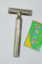 Early Gillette Nickel Plated Fat Handle DE Tech Razor, NICE SHAPE