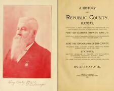 1901 REPUBLIC County Kansas KS, History and Genealogy Ancestry Family CD B02