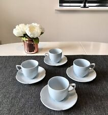 Vintage Johnson Bros Grey Dawn Espresso Cups And Saucers For Four
