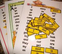 Reception Class First Words,  A4 Posters & mini words flash cards pack. FREE P&P