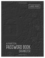 Large Print Password Book Keeper Website Log Notebook Journal Logbook Organizer