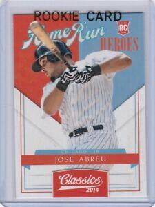 JOSE ABREU ROOKIE CARD 2014 Classics HOME RUN HEROES Baseball RC White Sox MVP!
