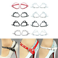 Women's Detachable PU Leather Shoe Straps Anti-Loose Shoelaces with Buckle