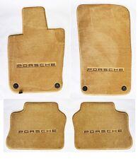 NEW! 2010-2014 Floor Mats Tan Porsche Panamera Embroidered Logo on all 4 mats