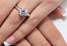 0.5 CT ROUND CUT DIAMOND SOLITAIRE ENGAGEMENT RING WHITE GOLD Finish Size 6.5