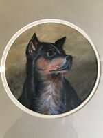 E. SIMPSON CIRCA 1869; 19thC DOG TERRIER PAINTING/PORTRAIT-Provenance