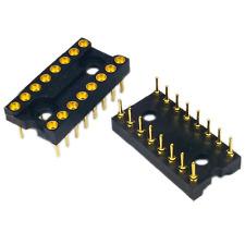 9 Pcs 16 Pin 16pin Ic Socket Round Gold Hole For Dip16 16dip Dip 16 Original