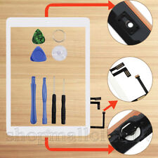 Für Apple iPad 5 Air 1Display Digitizer Glas Homebutton+Kleber+Werkzeug Weiß