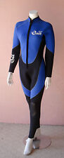 Full Length 5mm Scuba Diving Wetsuit for Women Front Zip, Glued Seams, Size: 14