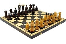 LARGE KING WOODEN CHESS WOOD ORNAMENTS FINE COPPER WIRE