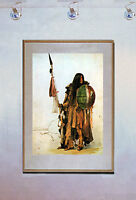 Indian With Shield 15x22 Native American Art Bodmer Print Hand Numbered Edition