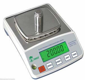 Tree HRB 1002TL Scale Weigh 1000g x 0.01 Gram High Resolution Balance TopLoader